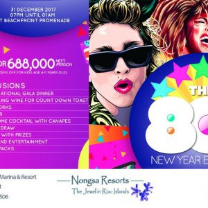 The 80's New Year Eve Party di Nongsa Point Marina & Resort (istimewa)